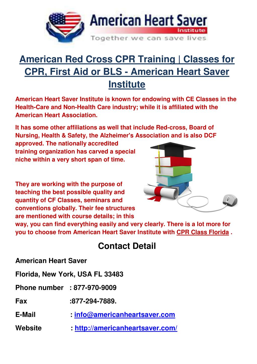 Ppt American Red Cross Cpr Training Classes For Cpr First Aid