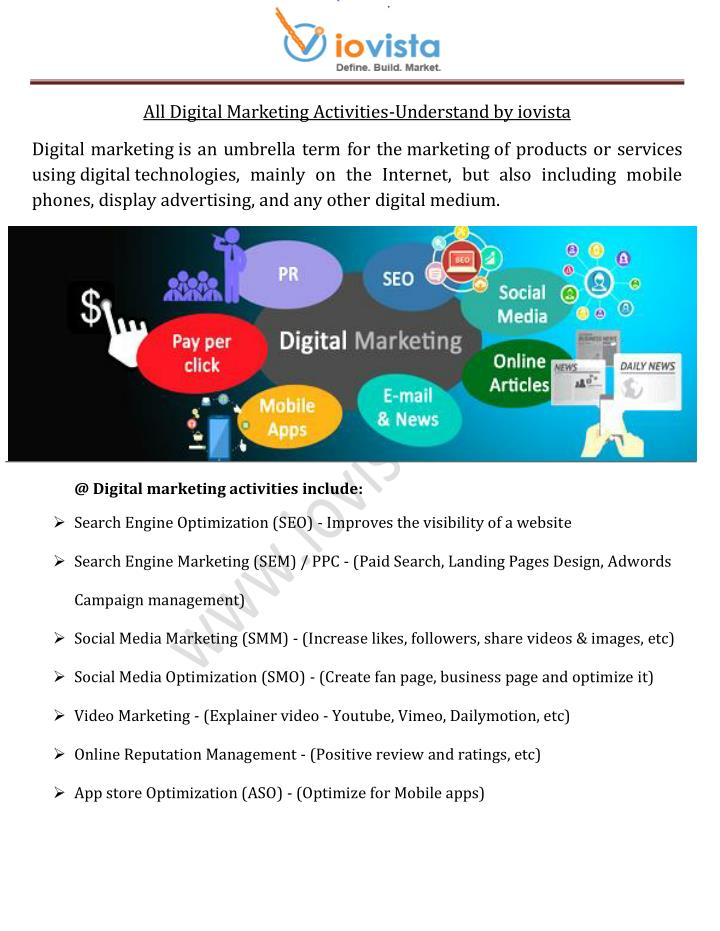 marketing and activity Marketing is any technique used to make the public aware of a company and what it has to offer over its competitors in the variations of marketing activities are vast and encompass almost every.