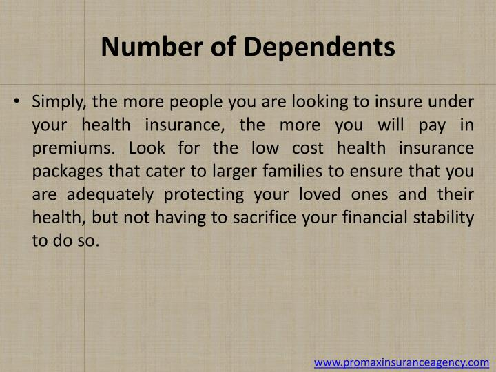 Number of Dependents