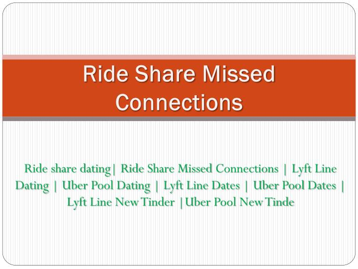 ride share missed connections