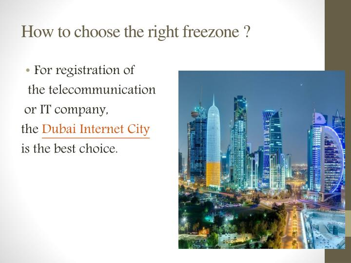 How to choose the right freezone ?