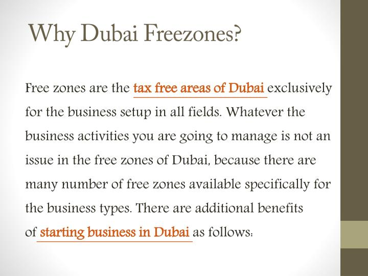Why Dubai Freezones?