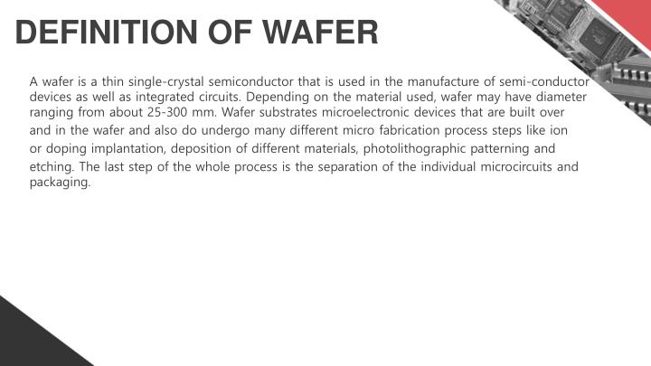 Definition of wafer