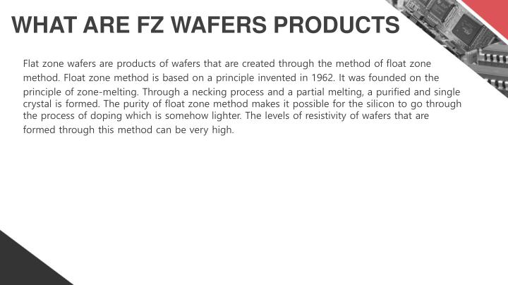 WHAT ARE FZ WAFERS PRODUCTS