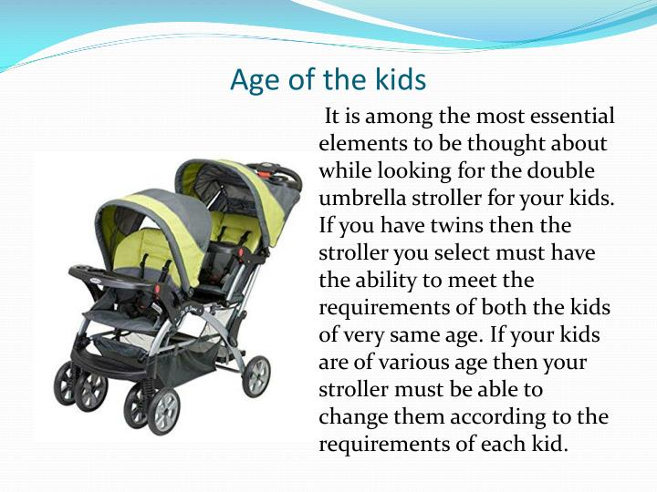 Age of the kids