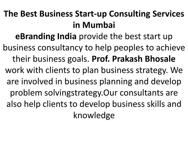 The Best Business Start-up Consulting Services in Mumbai