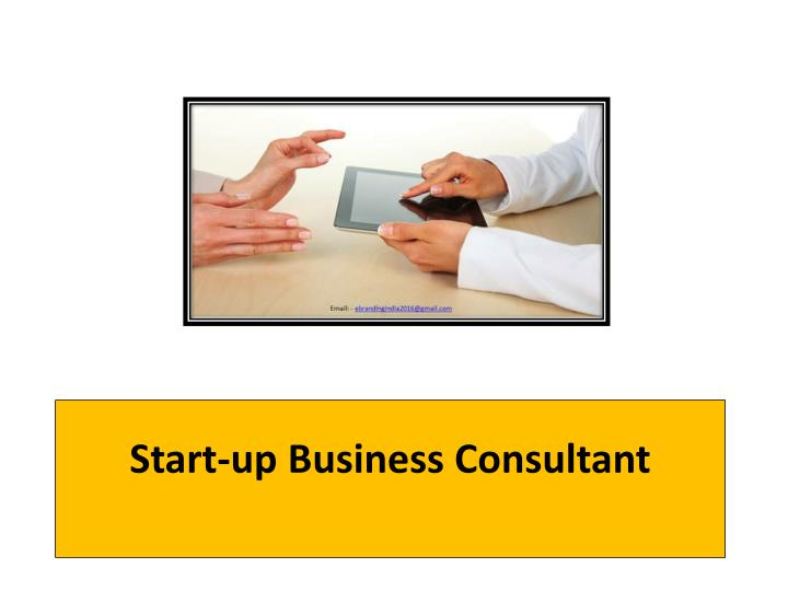 start up business consultant n.