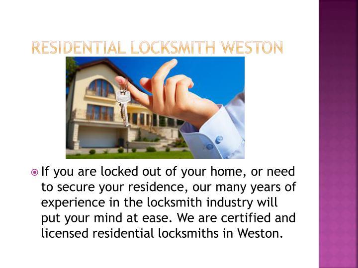 Residential locksmith weston