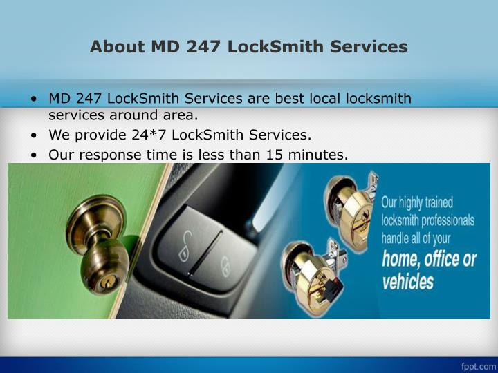 About md 247 locksmith services