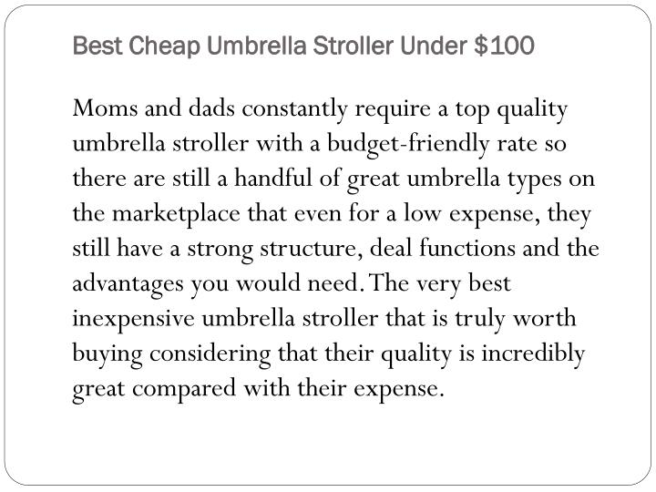 Best cheap umbrella stroller under 1001