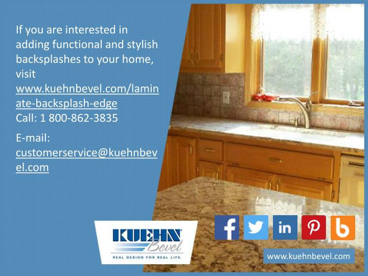If you are interested in adding functional and stylish backsplashes to your home, visit
