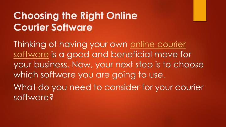 Choosing the right online courier software1