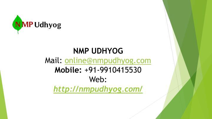 NMP UDHYOG