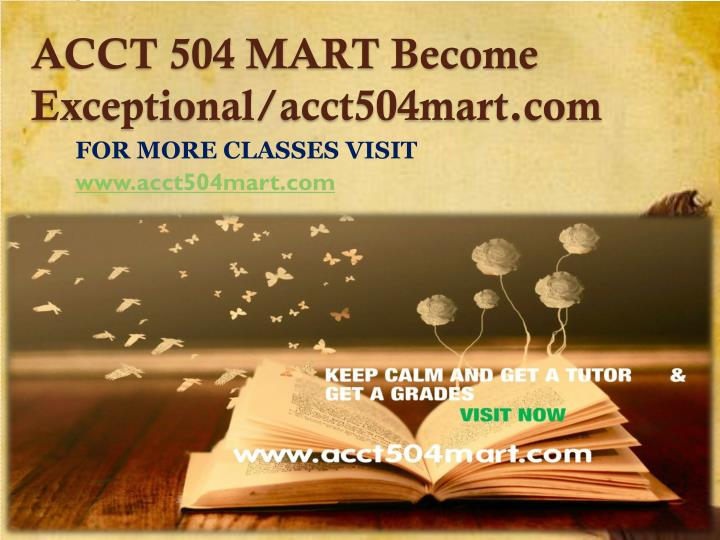 Acct 504 mart become exceptional acct504mart com