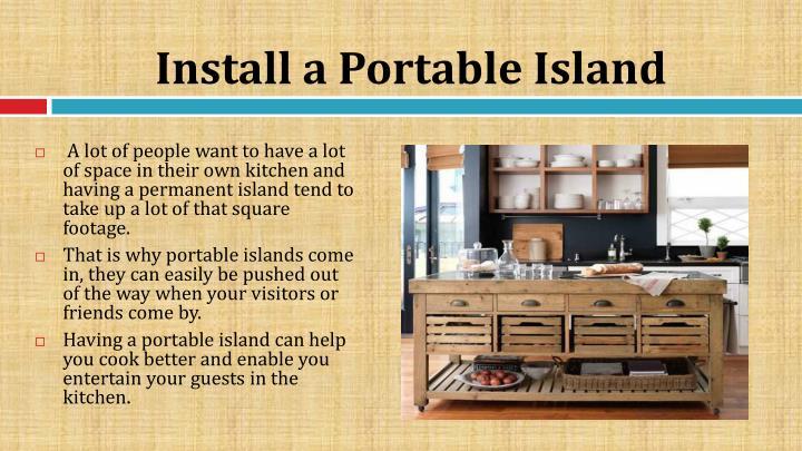 Install a Portable Island
