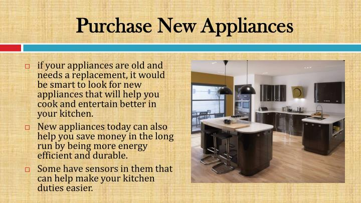 Purchase New Appliances