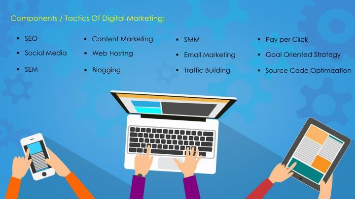 Components / Tactics Of Digital Marketing: