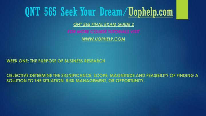 Qnt 565 seek your dream uophelp com2