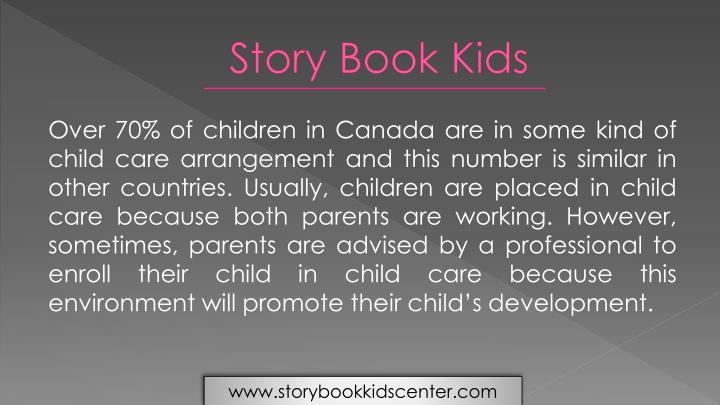 Over 70% of children in Canada are in some kind of