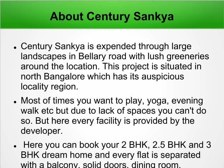 About Century Sankya