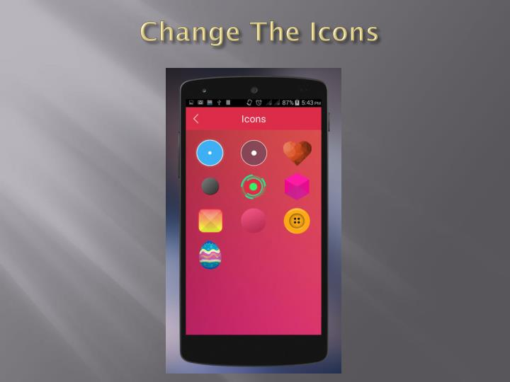 Change The Icons
