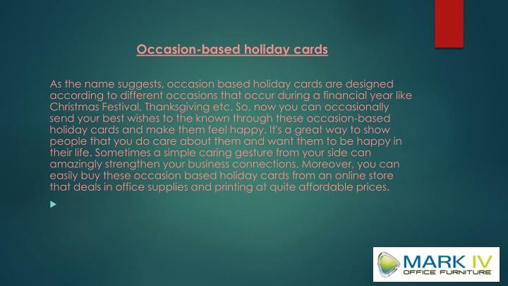 Occasion-based holiday cards