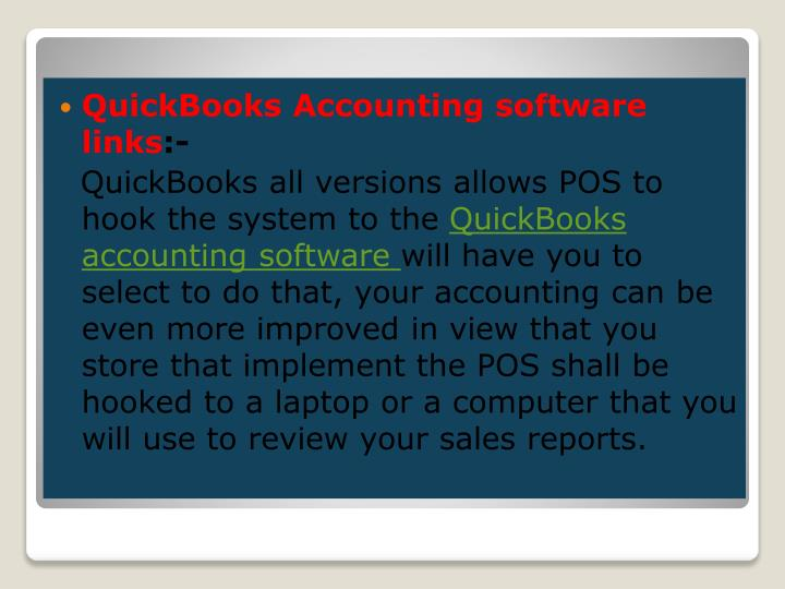 QuickBooks Accounting software links