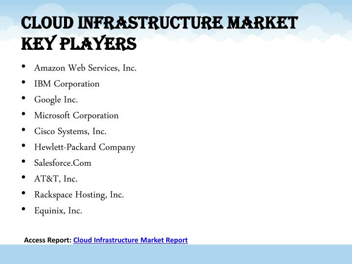 Cloud Infrastructure Market Key Players