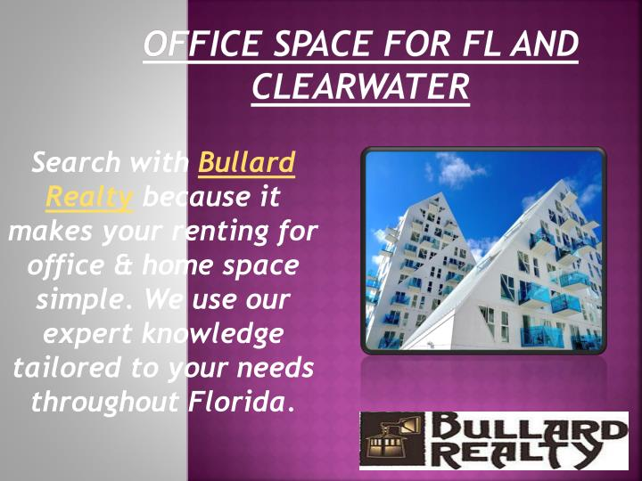 Office Space for FL and Clearwater