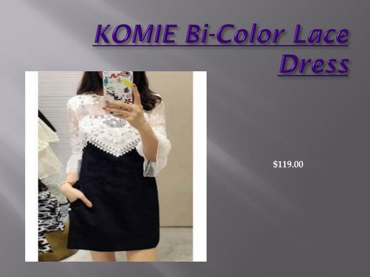 KOMIE Bi-Color Lace Dress
