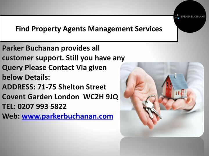 Find Property Agents Management Services