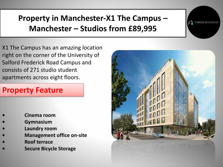 Property in Manchester-X1 The Campus –