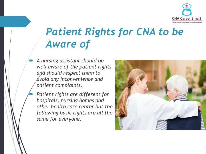 Patient Rights for CNA to be Aware of