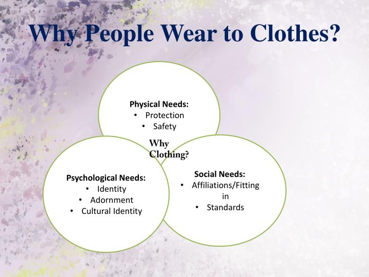 Why people wear to clothes