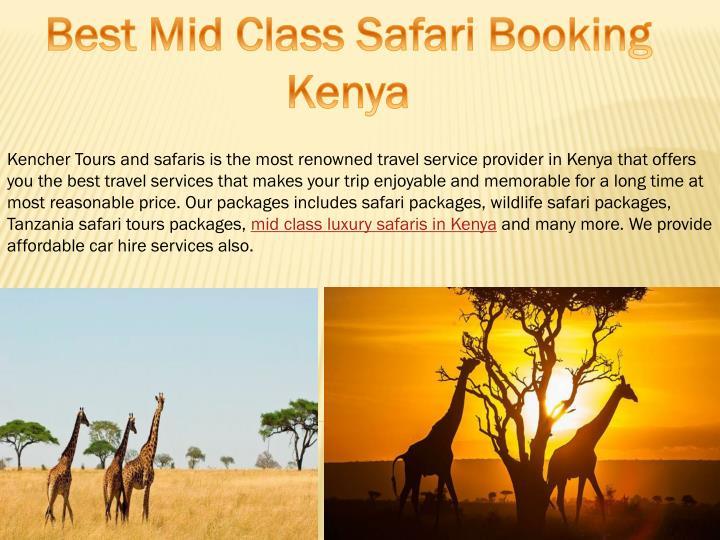 Best Mid Class Safari Booking Kenya