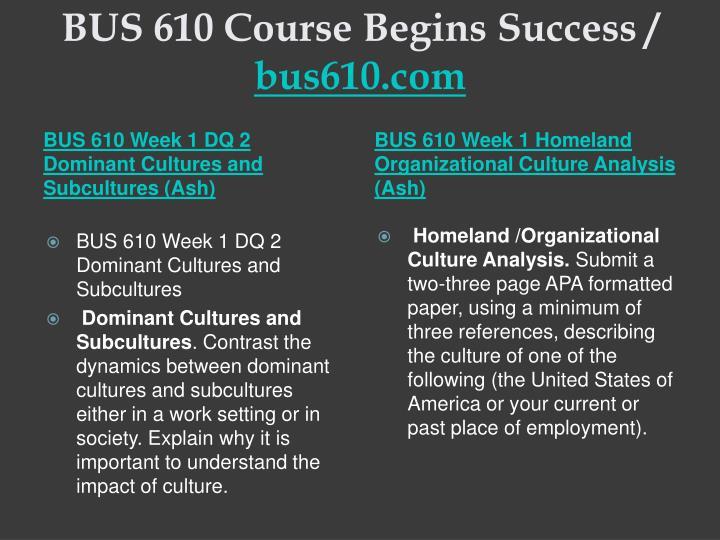Bus 610 course begins success bus610 com2