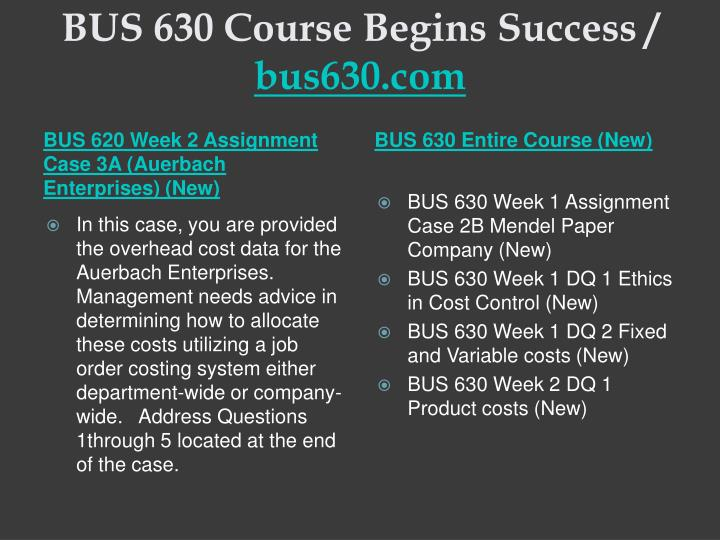 Bus 630 course begins success bus630 com1