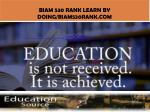 biam 530 rank learn by doing biam530rank com1