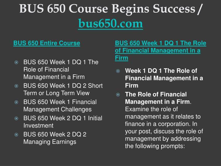 Bus 650 course begins success bus650 com1