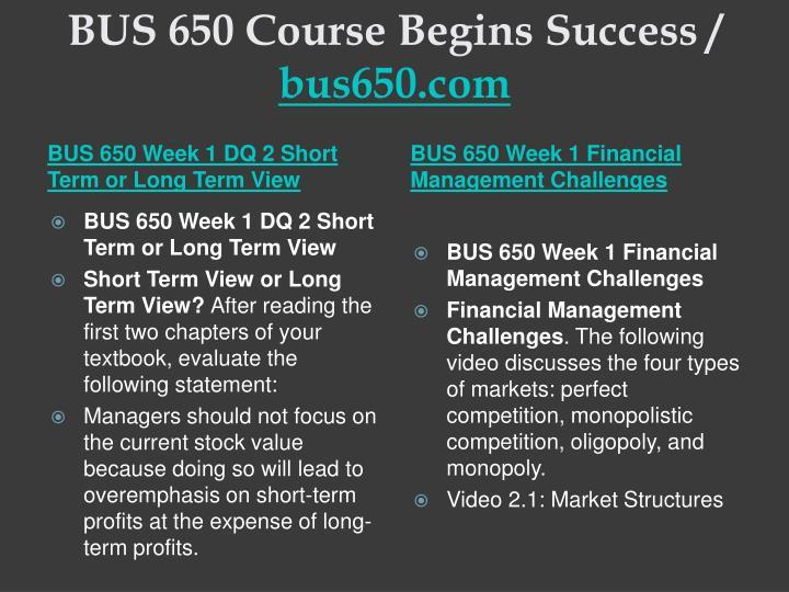 Bus 650 course begins success bus650 com2