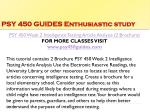 psy 450 guides enthusiastic study7