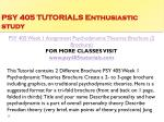 psy 405 tutorials enthusiastic study1