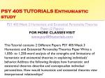 psy 405 tutorials enthusiastic study10