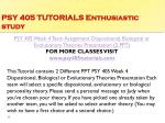 psy 405 tutorials enthusiastic study15