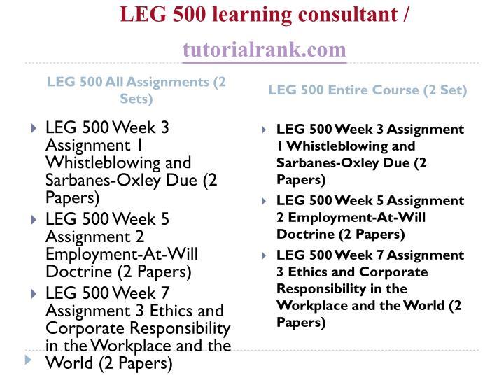 Leg 500 learning consultant tutorialrank com1