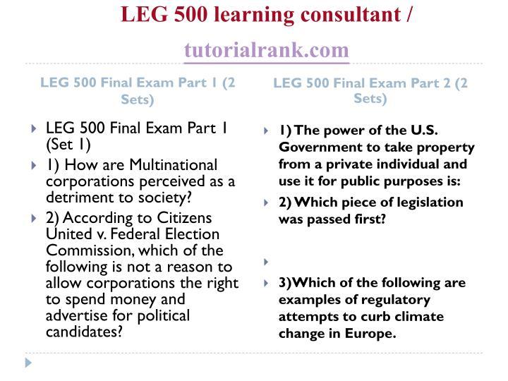 Leg 500 learning consultant tutorialrank com2