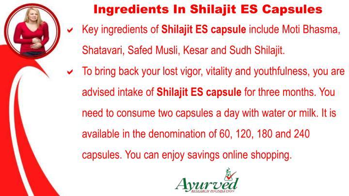 Ingredients In Shilajit