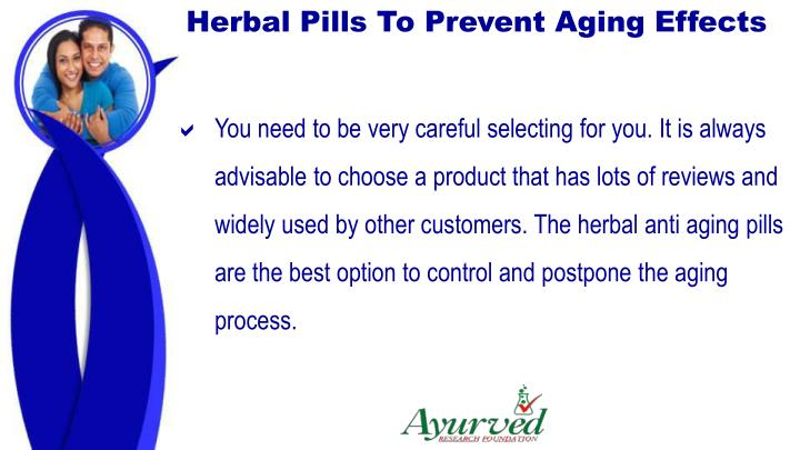 Herbal Pills To Prevent Aging Effects