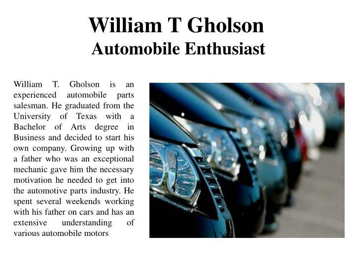 William T Gholson
