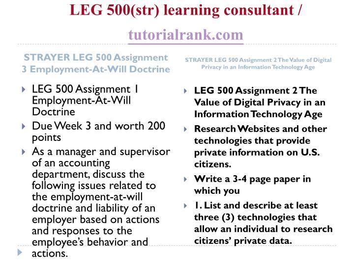 Leg 500 str learning consultant tutorialrank com2